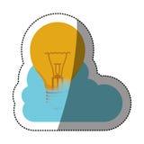 Conception de calcul d'ampoule et de nuage Photos libres de droits