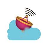 Conception de calcul d'antenne et de nuage Photo libre de droits