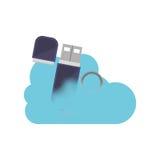 Conception de calcul d'Usb et de nuage Photos libres de droits