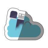 Conception de calcul d'Usb et de nuage Photographie stock