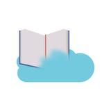 Conception de calcul de livre et de nuage Photographie stock libre de droits