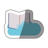 Conception de calcul de livre et de nuage Photographie stock