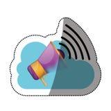 Conception de calcul de mégaphone et de nuage Photos libres de droits