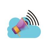 Conception de calcul de mégaphone et de nuage Images libres de droits