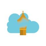 Conception de calcul de stylo et de nuage Photographie stock libre de droits