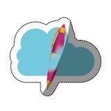 Conception de calcul de stylo et de nuage Photos libres de droits