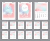 Conception 2019 de calendrier illustration de vecteur
