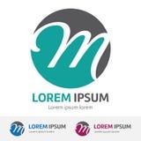 Conception de calibre de couleur d'illustration de M Letter Logo illustration libre de droits