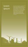 Conception de calibre de brochure Concept du bâtiment d'ensemble industriel et de fabrication Illustration de vecteur illustration de vecteur