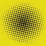Conception de calibre de vecteur de fond d'Art Yellow Black Dots Comic de bruit Photo stock