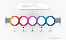 Conception de calibre de label de cercle d'Infographic 3d de vecteur illustration libre de droits