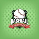 Conception de calibre de logo de base-ball images stock