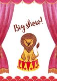 Conception de calibre pour l'affiche de cirque illustration stock