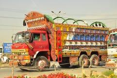 Conception de camion du Pakistan Photo libre de droits