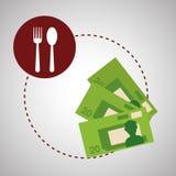 Conception de carte affiche l'icône Concept de restaurant Photographie stock libre de droits
