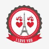 Conception de carte d'amour Photographie stock