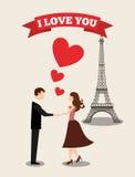 Conception de carte d'amour Photos libres de droits