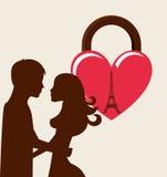 Conception de carte d'amour Images stock