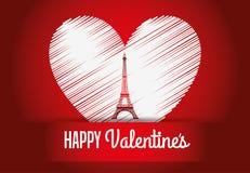 Conception de carte d'amour Image libre de droits
