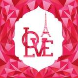 Conception de carte d'amour Photo libre de droits