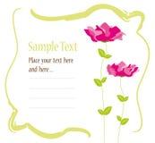 Conception de carte d'invitation illustration stock