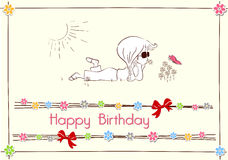 Conception de carte de joyeux anniversaire Image libre de droits