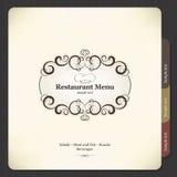 Conception de carte de restaurant Photos stock