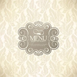 Conception de carte de restaurant Photo stock