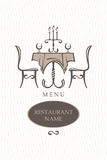 Conception de carte de restaurant Image libre de droits