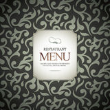 Conception de carte de restaurant illustration stock