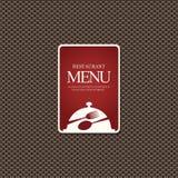 Conception de carte de restaurant Photographie stock libre de droits