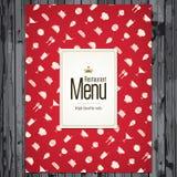Conception de carte de restaurant Photo libre de droits