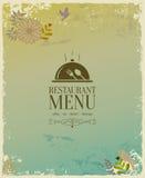 Conception de carte de restaurant Photographie stock