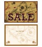 Conception de carte de vente Images libres de droits