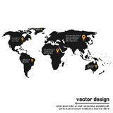 Conception de carte du monde de vecteur Photos stock