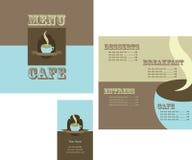 Conception de carte et de logo pour le restaurant images stock