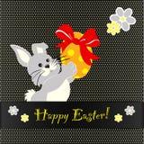 Conception de carte heureuse de Pâques Photos libres de droits