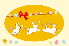 Conception de carte heureuse de Pâques Images libres de droits