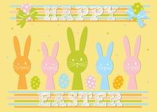 Conception de carte heureuse de Pâques Image libre de droits