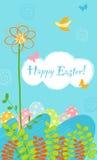 Conception de carte heureuse de Pâques Image stock