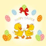Conception de carte heureuse de Pâques Photo stock