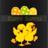 Conception de carte heureuse de Pâques illustration de vecteur