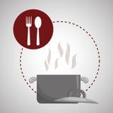 Conception de carte Icône de nourriture Concept de restaurant Photos libres de droits