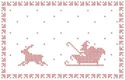 Conception de carte postale de Noël. Photo stock
