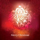 Conception de carte postale de Noël de vecteur Image stock