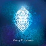 Conception de carte postale de Noël de vecteur Images libres de droits