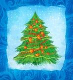 Conception de carte tirée par la main de Noël Photos libres de droits