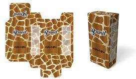 Conception de carton d'emballage de panthère illustration libre de droits