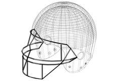 Conception de casque de football - architecte Blueprint - d'isolement illustration de vecteur