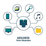 Conception de centre de traitement des données Photos stock